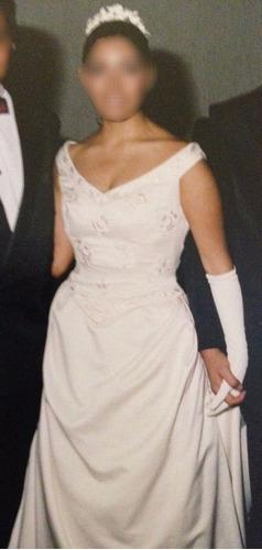 vestido de novia español pronovias aperlado  talla 30-32