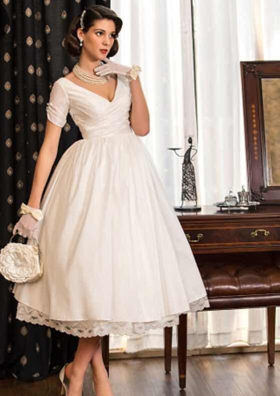 vestido de novia, estilo años 50. - $ 1,278.00 en mercado libre