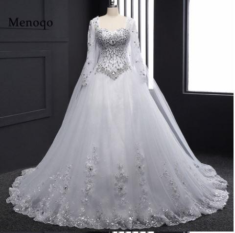 vestido de novia-estilo arabe-mangas o strapless - $ 14.900,00 en