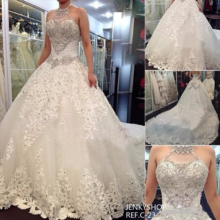 vestido de novia estilo catedral importado con su talla - $ 1.360