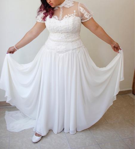 vestido de novia extra grande talla 40