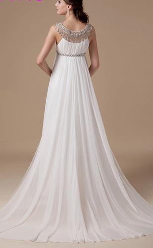 vestido de novia imperio hermoso, sexy embarazo,elegante!