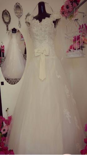 vestido de novia importado color ivory