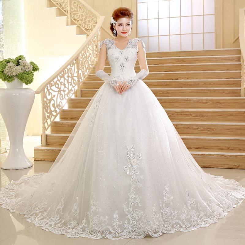 vestido de novia importado modelo princesa encaje oferta new - s