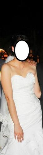 vestido de novia ivory talla 10 ajustable