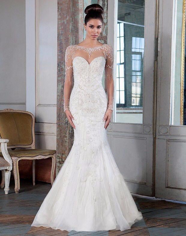 vestido de novia justin alexander