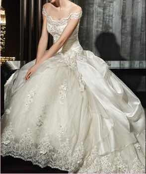 vestido de novia largo bordado importado