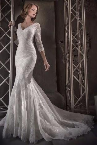 vestido de novia manga larga envio gratis inmediato