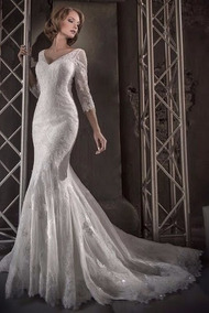 Novia La En De S Mujer SposaVestidos Largo Vestido kOPTiZuX