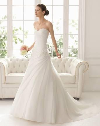 vestido de novia marca aire barcelona, talla 41 (usa 8) - $ 2,000.00