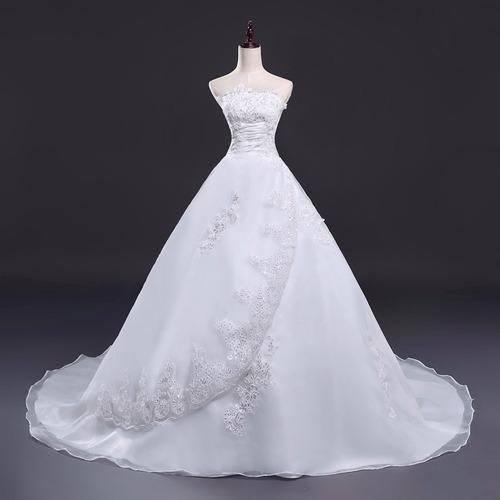 vestido de novia marfil ivory tipo princesa talla 8 10 nf 01