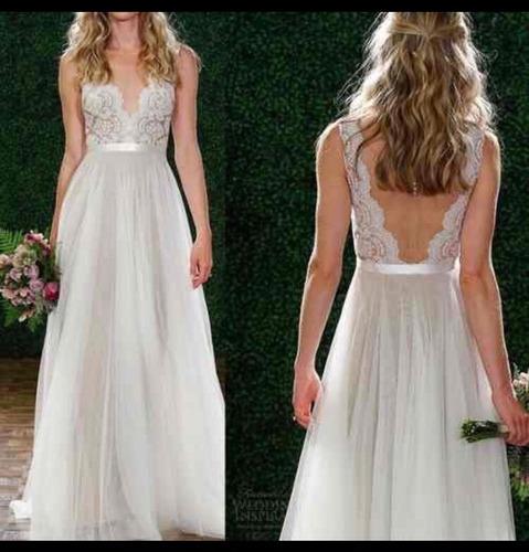 vestido de novia mi soleil románticatalles desde xs al xxl