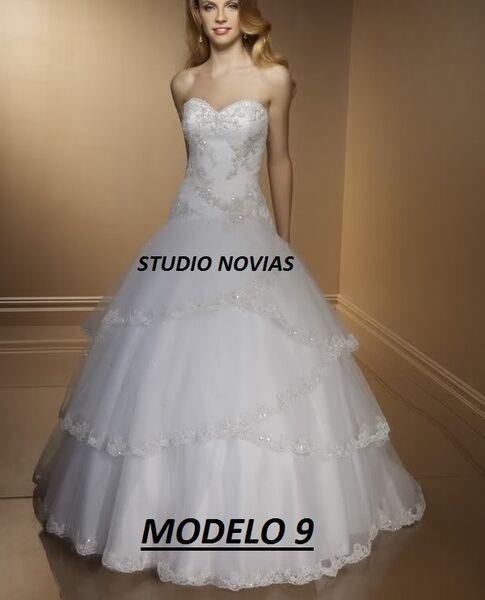 Vestido De Novia Nuevo Barato Bonito Elegante Blanco Mod 9 ...