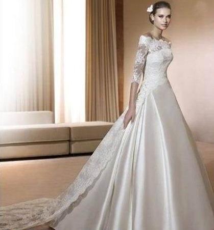 vestido de novia nuevo barato bonito elegante boda modelo 31
