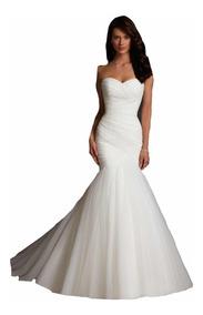 651f2367a Vestido De Novia Nuevo Barato Bonito Elegante Boda Modelo 43