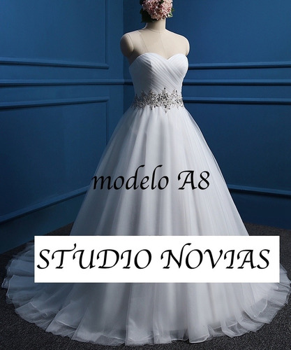 vestido de novia nuevo barato bonito elegante boda modelo a8