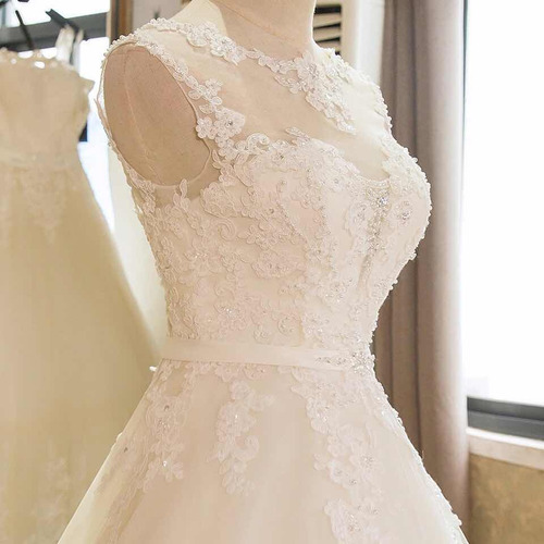 vestido de novia nuevo barato bonito elegante boda sl 1