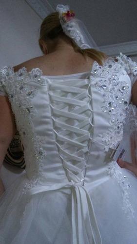 vestido de novia nuevo color blanco.