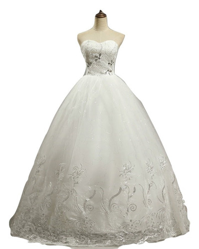 vestido de novia nuevo color marfil talla  8  delpilar nm 03
