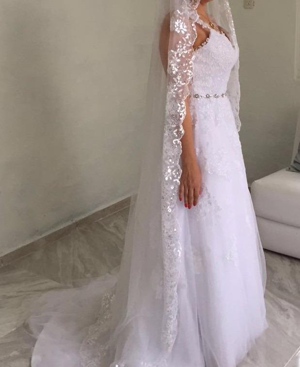 vestido de novia nuevo con o sin velo - $ 3,000.00 en mercado libre