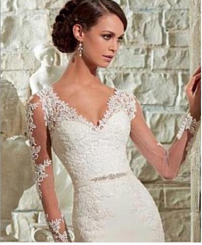 vestido de novia nuevo con o sin velo estilo sirena - $ 3,000.00 en