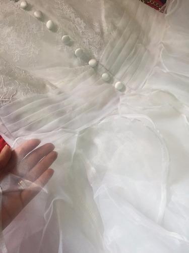 vestido de novia nuevo corte princesa encaje velo portatraje