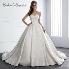 Vestido De Novia Nuevo Corte Princesa Straples Blancomarfil