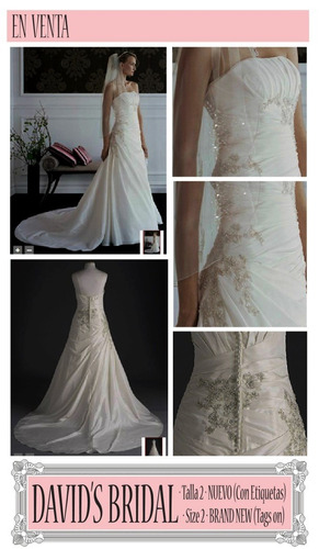 vestido de novia nuevo talla 2