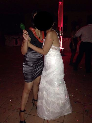vestido de novia + peine de flores de regalo!!!