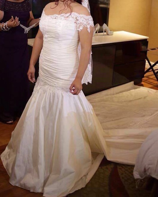 Vestido De Novia Personalizado Con Velo - $ 11,999.00 en Mercado Libre