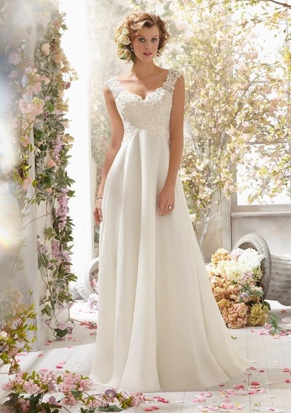 Vestido blanco novia playa