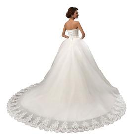 Vestido De Novia Princesa Blanco Ivory Con Cola