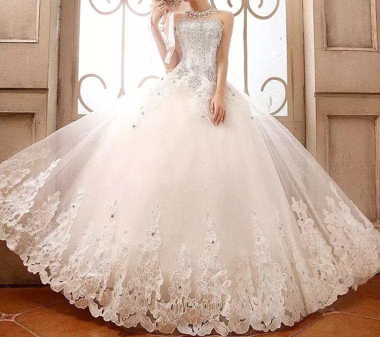 vestido de novia princesa pedrería #32 - $ 8.999,00 en mercado libre