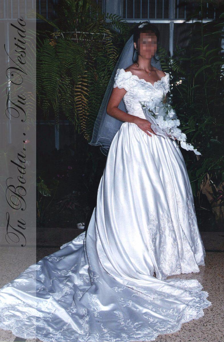 Vestido De Novia Raso Importado Blanco Usado. - Bs. 23.500.000,00 en ...