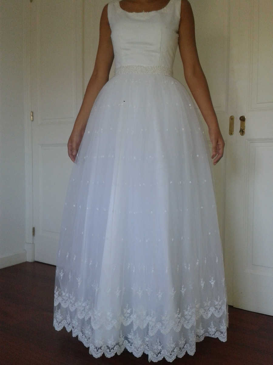 Vestido De Novia Romántico Falda Amplia - $ 10.000,00 en Mercado Libre