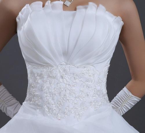 vestido de novia romántico nuevo blanco ivory  envió gratis