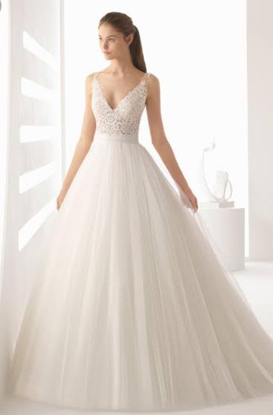 bien fuera x 60% de liquidación comprar baratas Vestido De Novia Rosa Clara Modelo Alejo