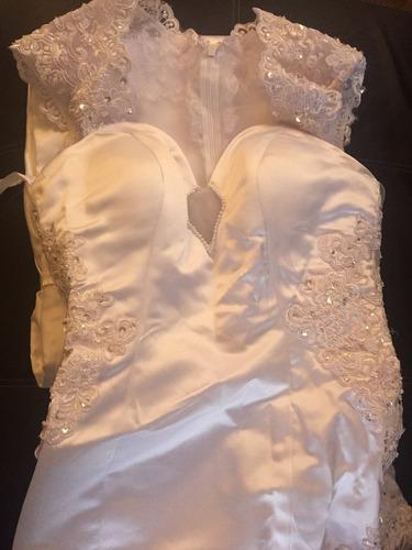 vestido de novia sexy transparencia en espalda