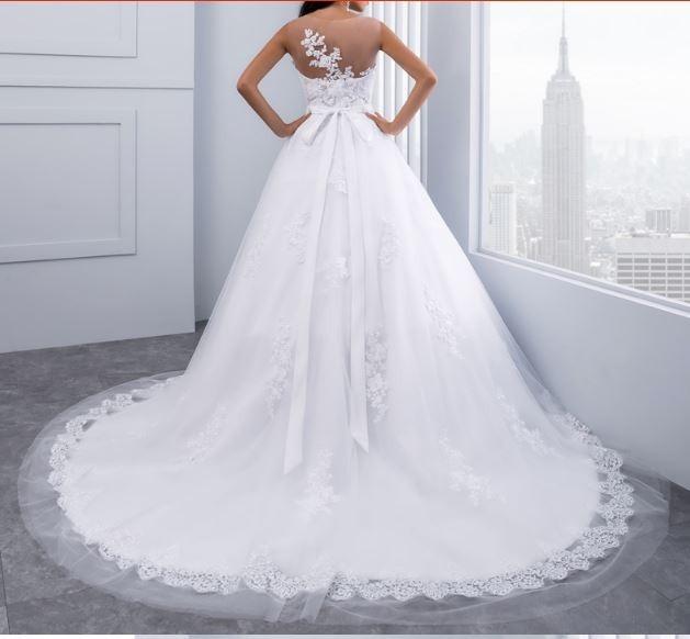 vestido de novia sin mangas, con cola personalizado - $ 11.995,00 en