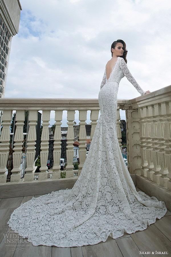 vestido de novia sirena importado mangas largas encaje - $ 6.499,00
