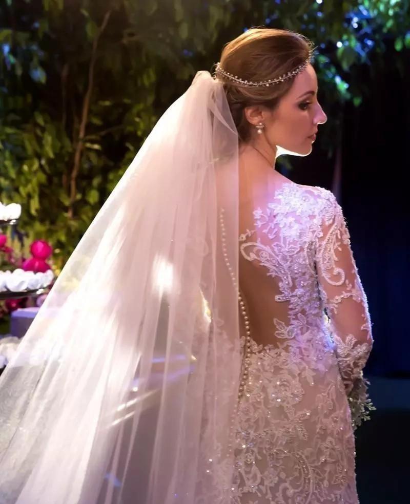 Vestido De Novia Sirena Mangas Largas #48 A Medida - $ 15.000,00 en ...