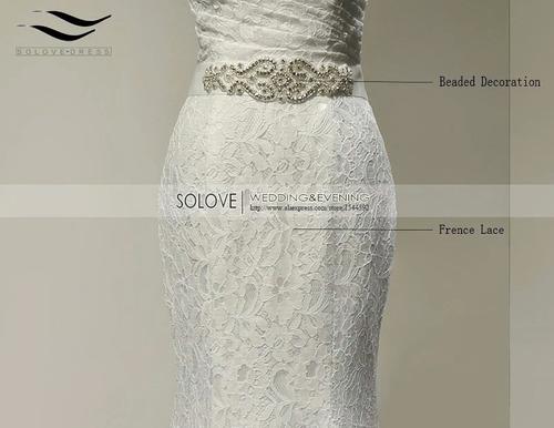 vestido de novia sirena nuevo marfil