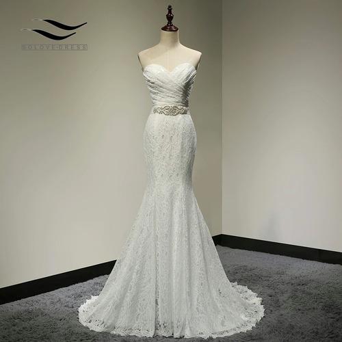 vestido de novia sirena nuevo marfil envió gratis