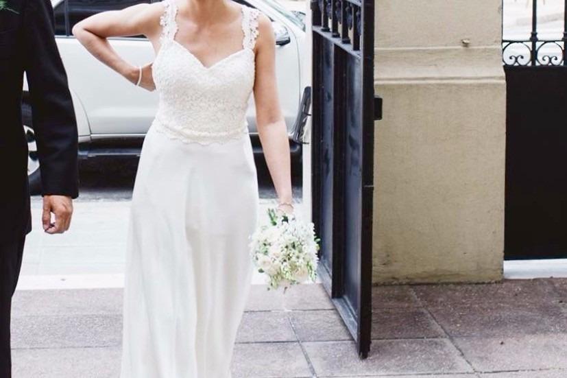 vestido de novia, son santas diseñador, Único e irrepetible