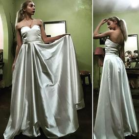 3a356caa8 Vestido De Novia Straples Con Falda Plato