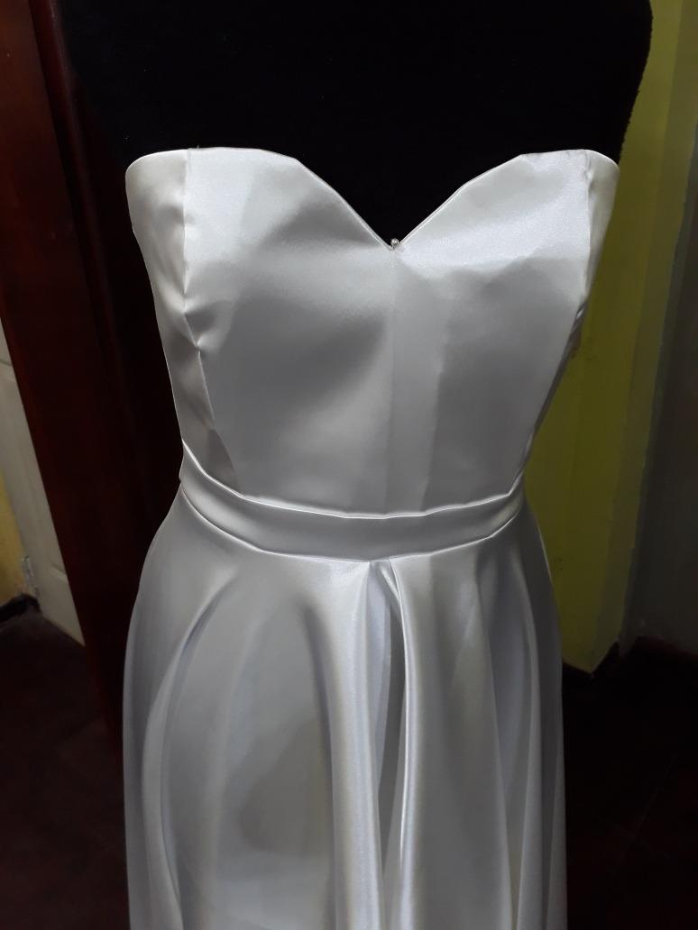 Vestido de novia falda plato
