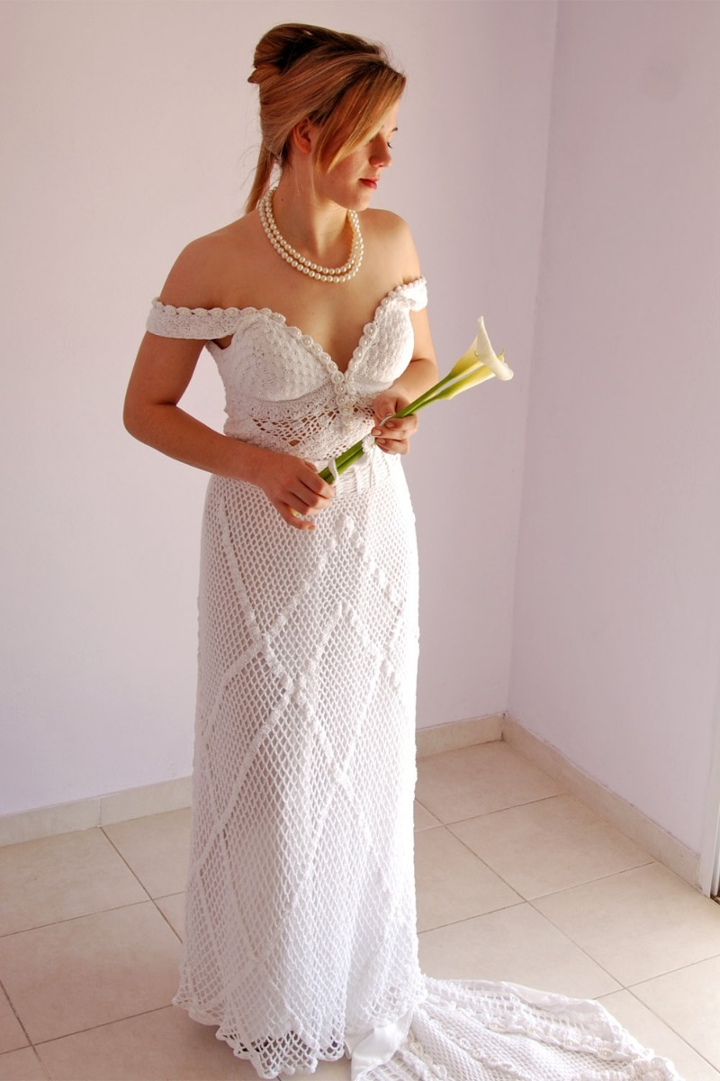 Vestidos de novia de tejido