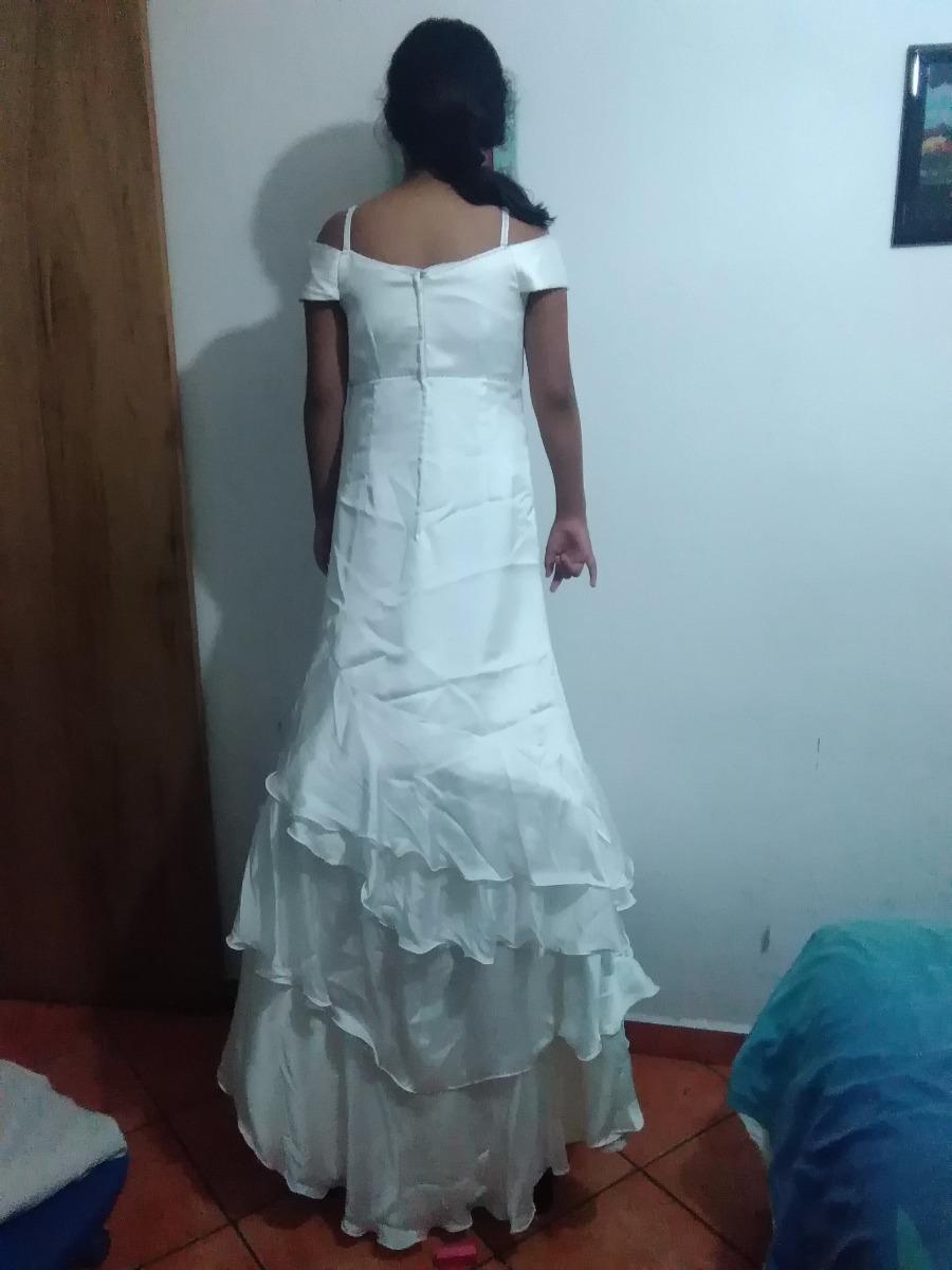 Vestido De Novia Tela Chantu Color Perla Talla 34 - $ 2,199.00 en ...