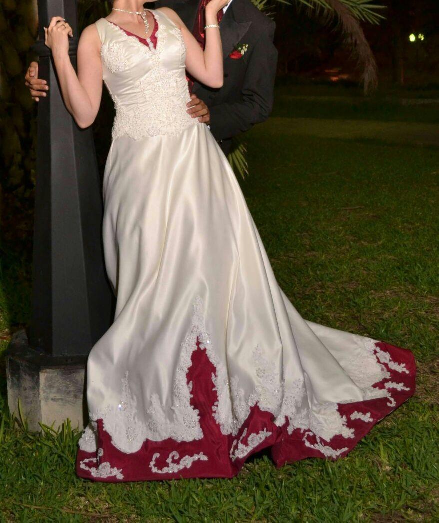 Vestido de novia tela raso
