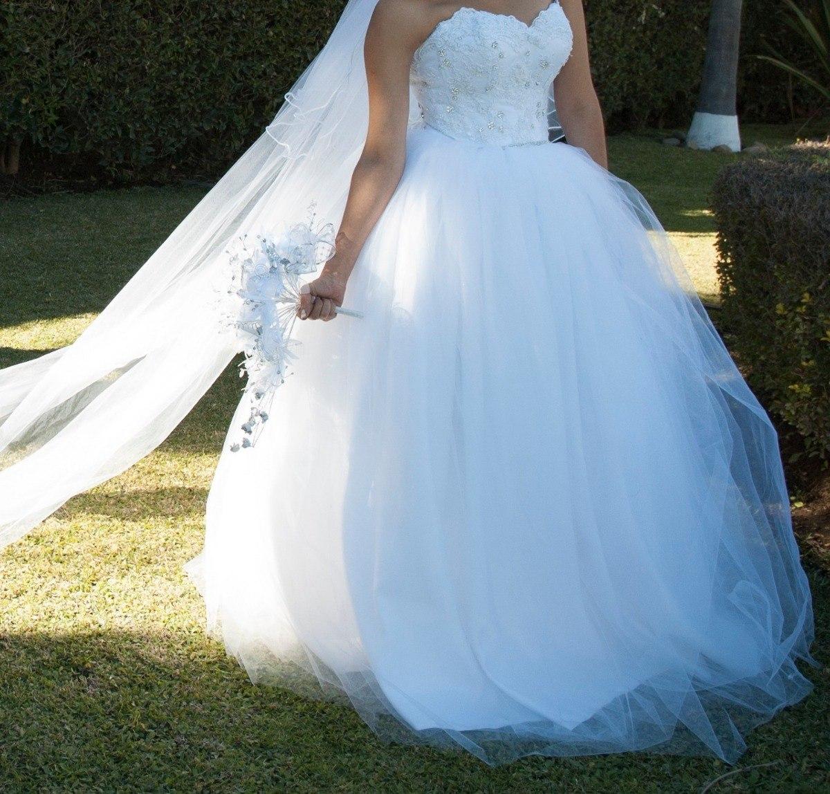 Vestido De Novia Tipo Princesa Blanco - $ 5,000.00 en Mercado Libre